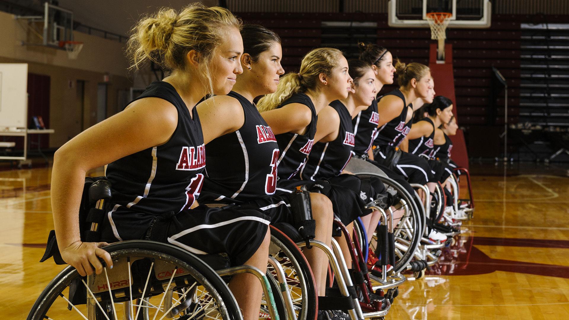Women's Wheelchair Basketball team.
