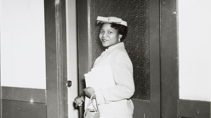 A picture of Autherine Lucy.