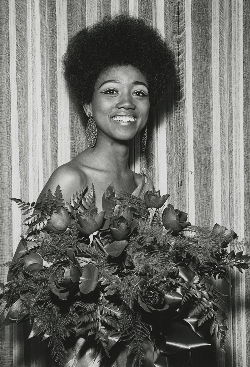 Picture of Dianne Kirskey, first African-American Homecoming Queen.